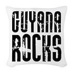 Guyana Rocks Woven Throw Pillow