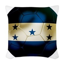 Honduras Football Woven Throw Pillow
