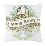 Buddha Hong Kong Woven Throw Pillow
