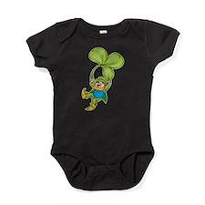 Leprachaun With Clover Baby Bodysuit