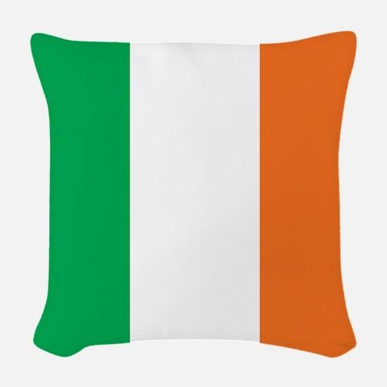 Ireland Flag Woven Throw Pillow