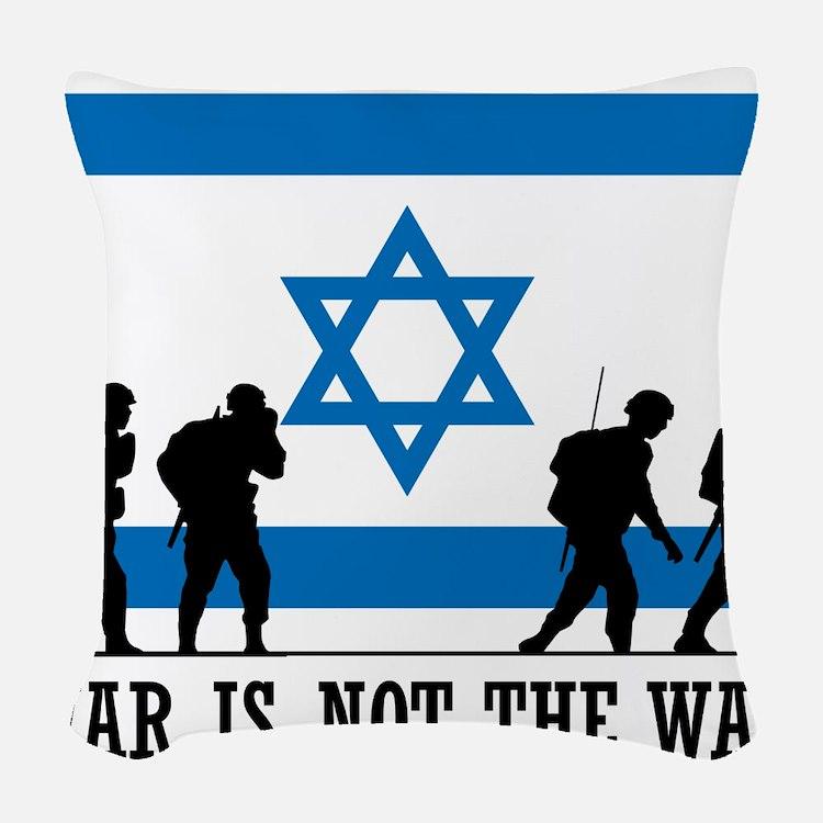 Anti War Israel Woven Throw Pillow