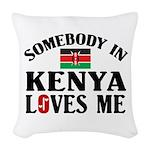 Somebody In Kenya Woven Throw Pillow