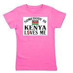 Somebody In Kenya Girl's Tee