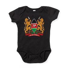 Kenya Coat of Arms Baby Bodysuit