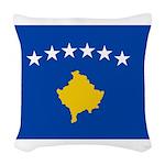 Kosovo Flag Woven Throw Pillow
