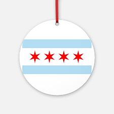Chicago Flag Ornament (Round)