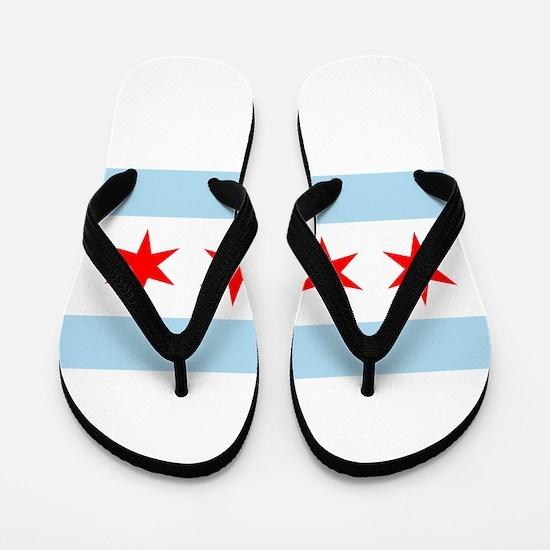Chicago Flag Flip Flops