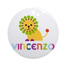 Vincenzo Loves Lions Ornament (Round)