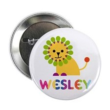 "Wesley Loves Lions 2.25"" Button"