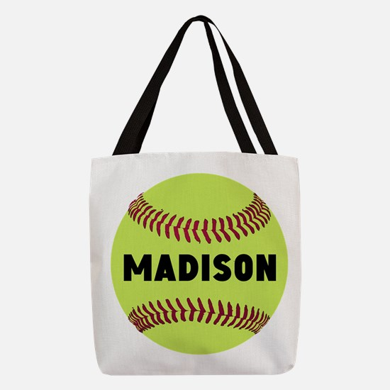 Softball Personalized Polyester Tote Bag