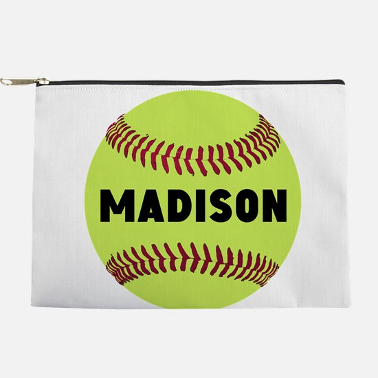 Softball Personalized Makeup Pouch