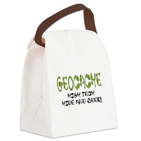 Geocache Canvas Lunch Bag
