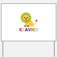 Xzavier Loves Lions Yard Sign