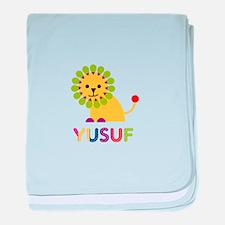 Yusuf Loves Lions baby blanket