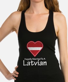 Happily Married Latvian Racerback Tank Top