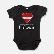 Happily Married Latvian Baby Bodysuit