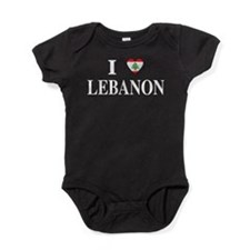 I Love Lebanon Baby Bodysuit