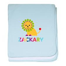 Zackary Loves Lions baby blanket