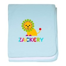 Zackery Loves Lions baby blanket