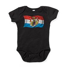 Wavy Luxembourg Flag Baby Bodysuit