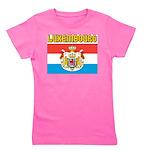 Luxembourg Flag Girl's Tee