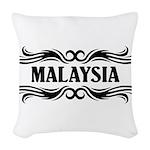 Tribal Malaysia Woven Throw Pillow
