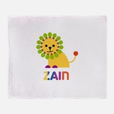 Zain Loves Lions Throw Blanket