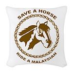Ride A Malaysian Woven Throw Pillow