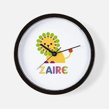Zaire Loves Lions Wall Clock