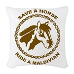 Ride A Maldivian Woven Throw Pillow