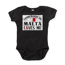 Somebody In Malta Baby Bodysuit