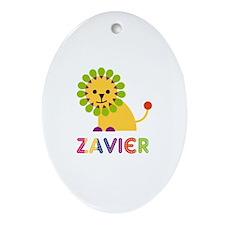 Zavier Loves Lions Ornament (Oval)