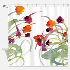 Atom Flowers #24 Shower Curtain