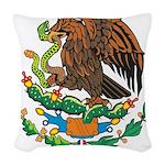 Mexico Coat Of Arms Woven Throw Pillow