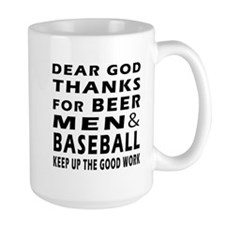 Beer Men and Baseball Mug