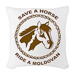 Ride A Moldovan Woven Throw Pillow