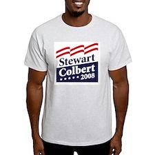 Stewart  / Colbert 2008 Grey T-Shirt