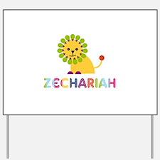 Zechariah Loves Lions Yard Sign