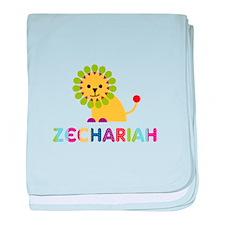 Zechariah Loves Lions baby blanket