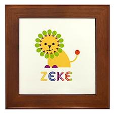 Zeke Loves Lions Framed Tile