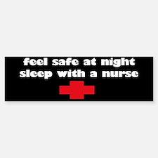 Feel Safe at Night, Sleep with a nurse sticker