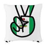 Nigeria Peace Woven Throw Pillow