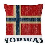 Vintage Norway Woven Throw Pillow