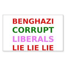 Benghazi Corrupt Liberals Lie Lie Lie Decal