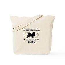 Tibbie dog funny designs Tote Bag