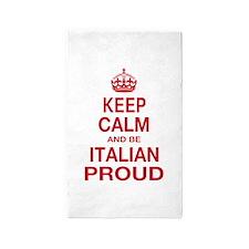 Keep Calm and Italian Proud 3'x5' Area Rug