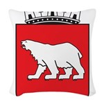 Hammerfest Coat Of Arms Woven Throw Pillow