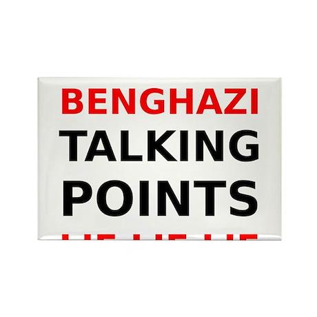 Benghazi Talking Points Lie Lie Lie Rectangle Magn