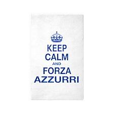 Keep Calm and Forza Azzurri 3'x5' Area Rug